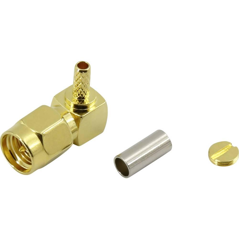 SMA-stikforbindelse Conrad Components 93038c8 50 Ohm Stik, vinklet 1 stk