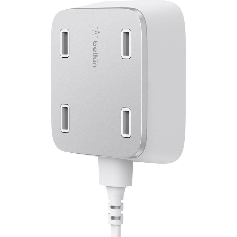 USB-opladerstation Belkin F8M990vfWHT F8M990vfWHT Stikdåse Udgangsstrøm max. 5400 mA 4 x USB (value.1390762)