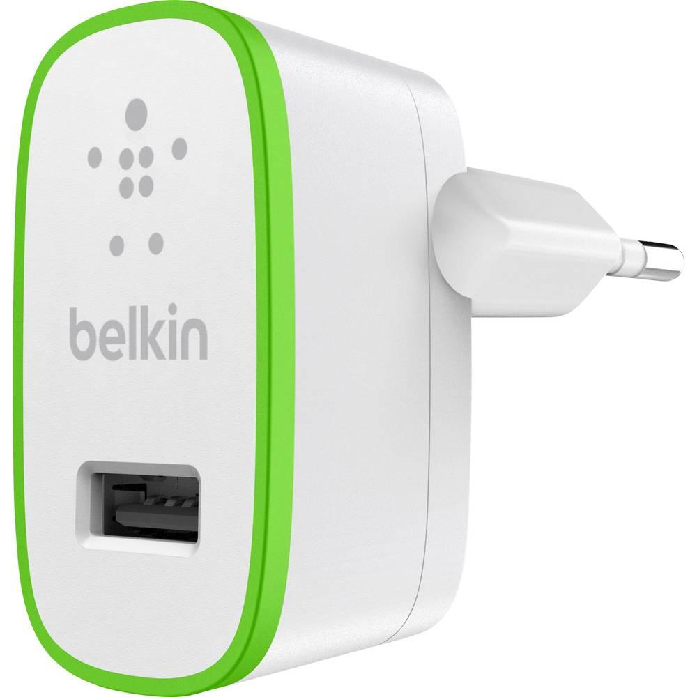 USB-oplader Belkin F8J040vfWHT F8J040vfWHT Stikdåse Udgangsstrøm max. 2400 mA 1 x USB