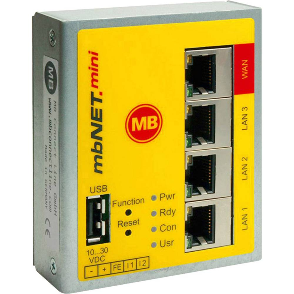 MB Connect Line industrijski router MDH860 WAN / LAN MB Connect Line GmbH 24 V/DC