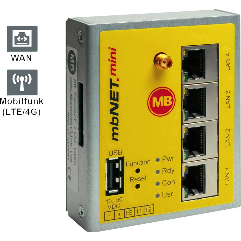 MB Connect Line industrijski router MDH861 LAN -3G MB Connect Line GmbH 24 V/DC