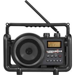 FM Byggradio PerfectPro Lunchbox 2 AUX, MW, FM Svart
