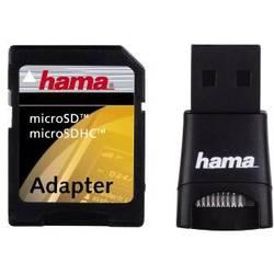 Zunanji bralnik spominskih kartic USB 2.0 Hama 91047 črn