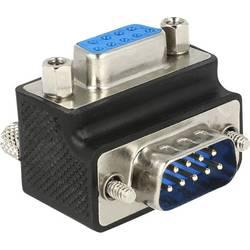 VGA adapter [1x VGA-vtič 1x VGA-vtičnica] 270° zavrten, črn, nastavljiv Delock