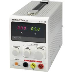 Laboratorijski napajalnik, nastavljiv Basetech BT-155 0 - 15 V/DC 0 - 5 A 75 W št. izhodov 1 x