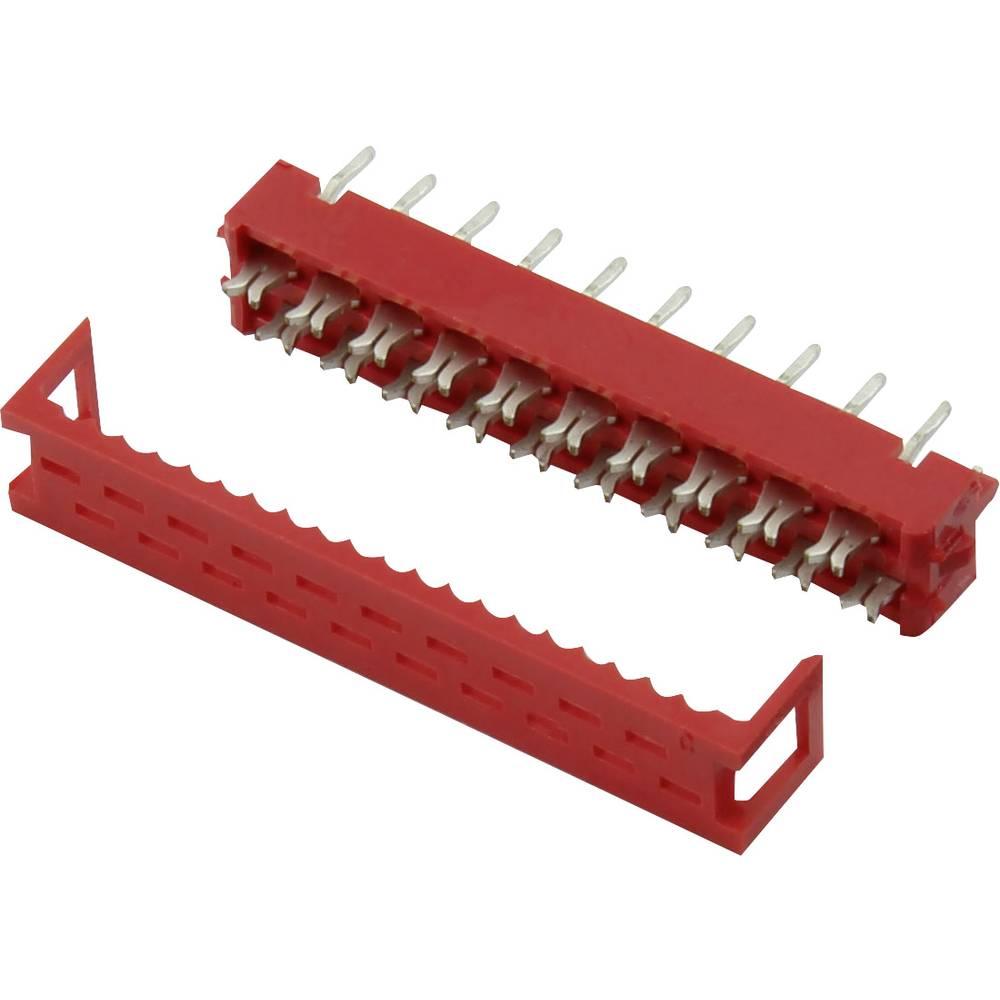 Ohišje vtiča za tiskano vezje, skupno št. polov: 4 Connfly razporeditev kontaktov: 1.27 mm 1 kos