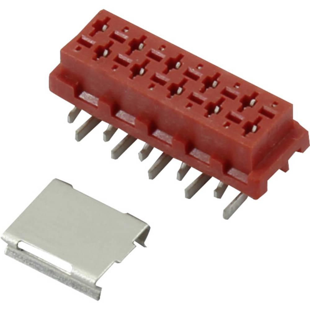 Stiftkabinet-printplade Micro-MaTch (value.1360525) Samlet antal poler 10 Connfly 1390076 Rastermål: 1.27 mm 1 stk