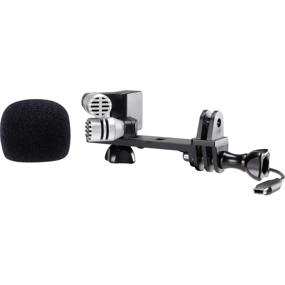 Pripenjalni mikrofon za kamero Renkforce GM-01, vsebuje kabel, sponko in vetrobran