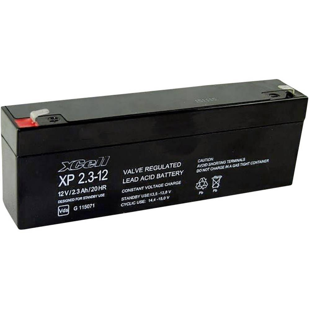 Svinčev akumulator 12 V 2.1 Ah XCell XP2.112 XCEXP2.112 Blei-Vlies (AGM) (B x H x T) 178 x 66 x 35 mm ploščati vtič 4.8 mm vzdrž