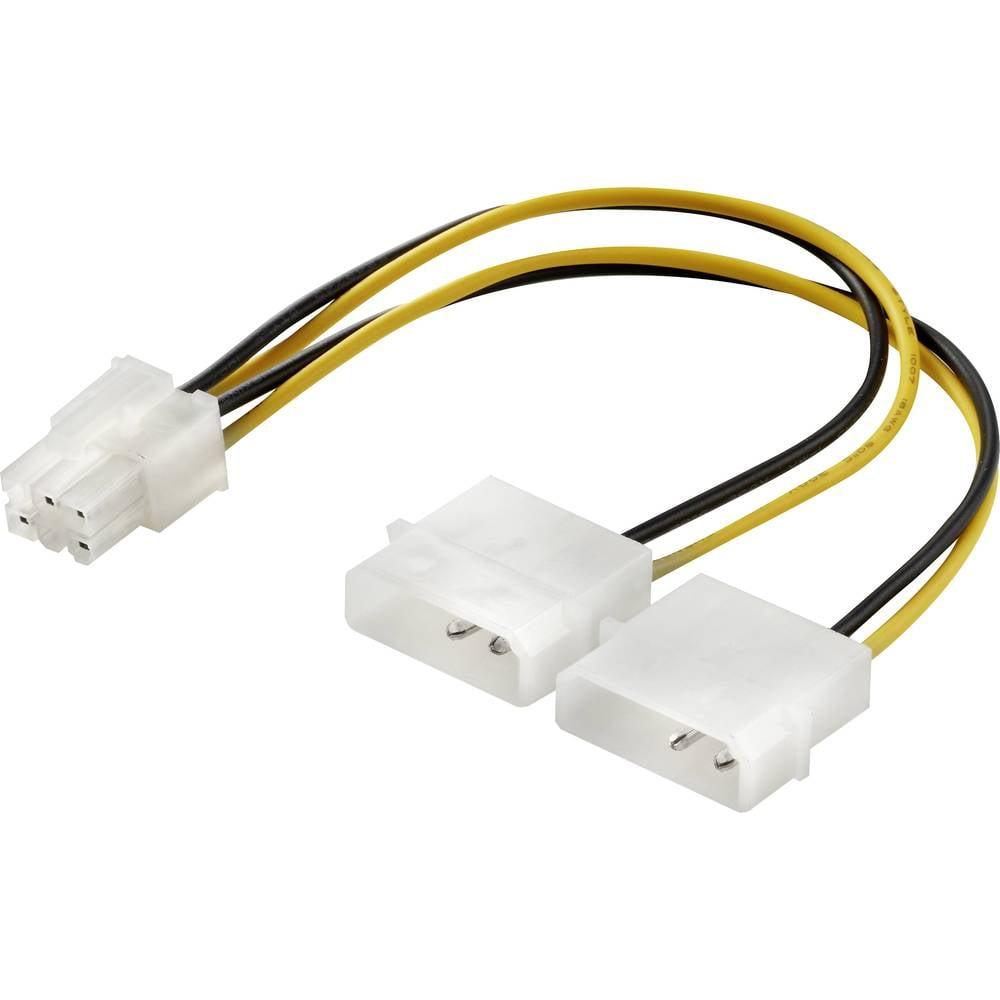 Strujni Y kabel [1x ATX-utikač 6 polni - 2x IDE-utikač 4 polni] 0.15 m žuto-crne boje, renkforce