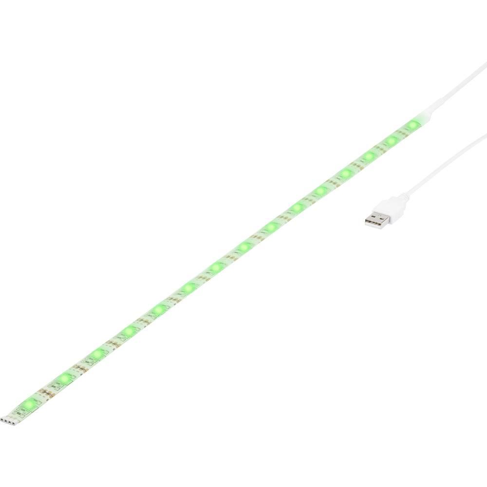 LED traka, kompletni set s utikačem 5 V 50 cm RGB renkforce