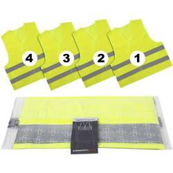 LifeHammer Vakuum Ultra opozorilni jopič 4x pakiranje -rumene barve, srebrne barve (reflektirajoče barve)