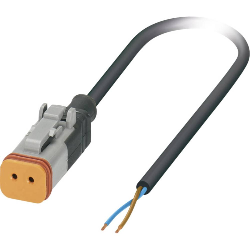 Senzorski/aktuatorski kabel, prost konec, vtičnica ravna DT06-2S Pole: 2 SAC-2P- 3,0-PUR/DTFS-1L Phoenix Contact vsebuje: 1 kos