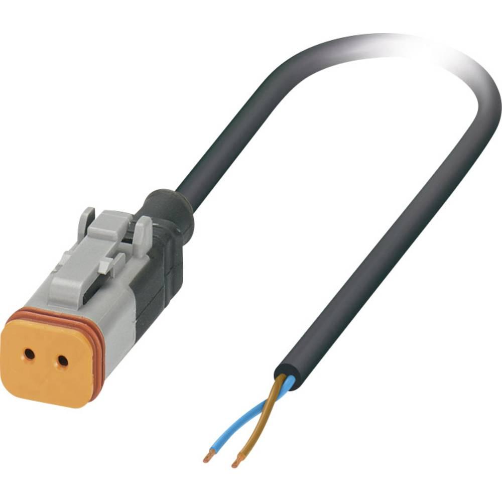 Senzorski/aktuatorski kabel, prost konec, vtičnica ravna DT06-2S Pole: 2 SAC-2P- 1,5-PUR/DTFS-1L-S Phoenix Contact vsebuje: 1 ko