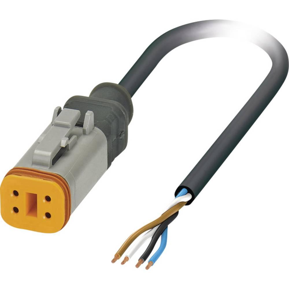 Senzorski/aktuatorski kabel, prost konec, vtičnica ravna DT06-4S Pole: 4 SAC-4P- 1,5-PUR/DTFS Phoenix Contact vsebuje: 1 kos