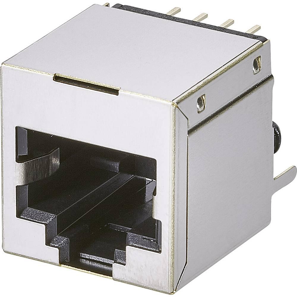Modularna vgradna vtičnica, 1 vhod, CAT 5 vtičnica, vodoravna namestitev, št. polov: 8P8C A00-108-622-450 kovinska EDAC A00-108-