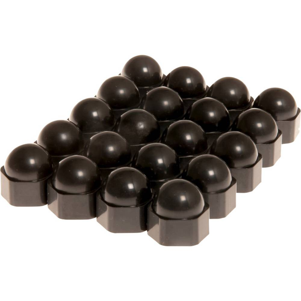 Kapice za matice na kotaču Prikladno za 17 mm Crna Plastika HP Autozubehör