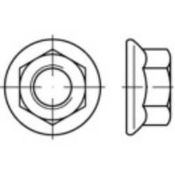 Sekskant-låsemøtrikker med flange M8 DIN 6923 Rustfrit stål A4 1000 stk TOOLCRAFT 1067594