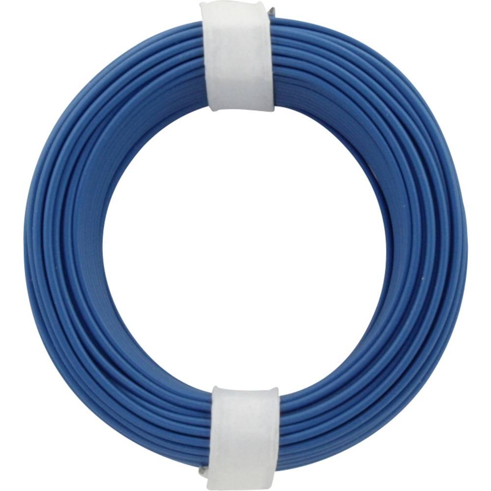 Finožični vodnik 1 x 0.14 mm modre barve BELI-BECO L118/10 modre barve 10 m