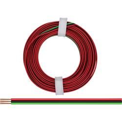 Žica 3 x 0.14 mm rdeče barve, zelene barve, črne barve BELI-BECO L318/5R 5 m