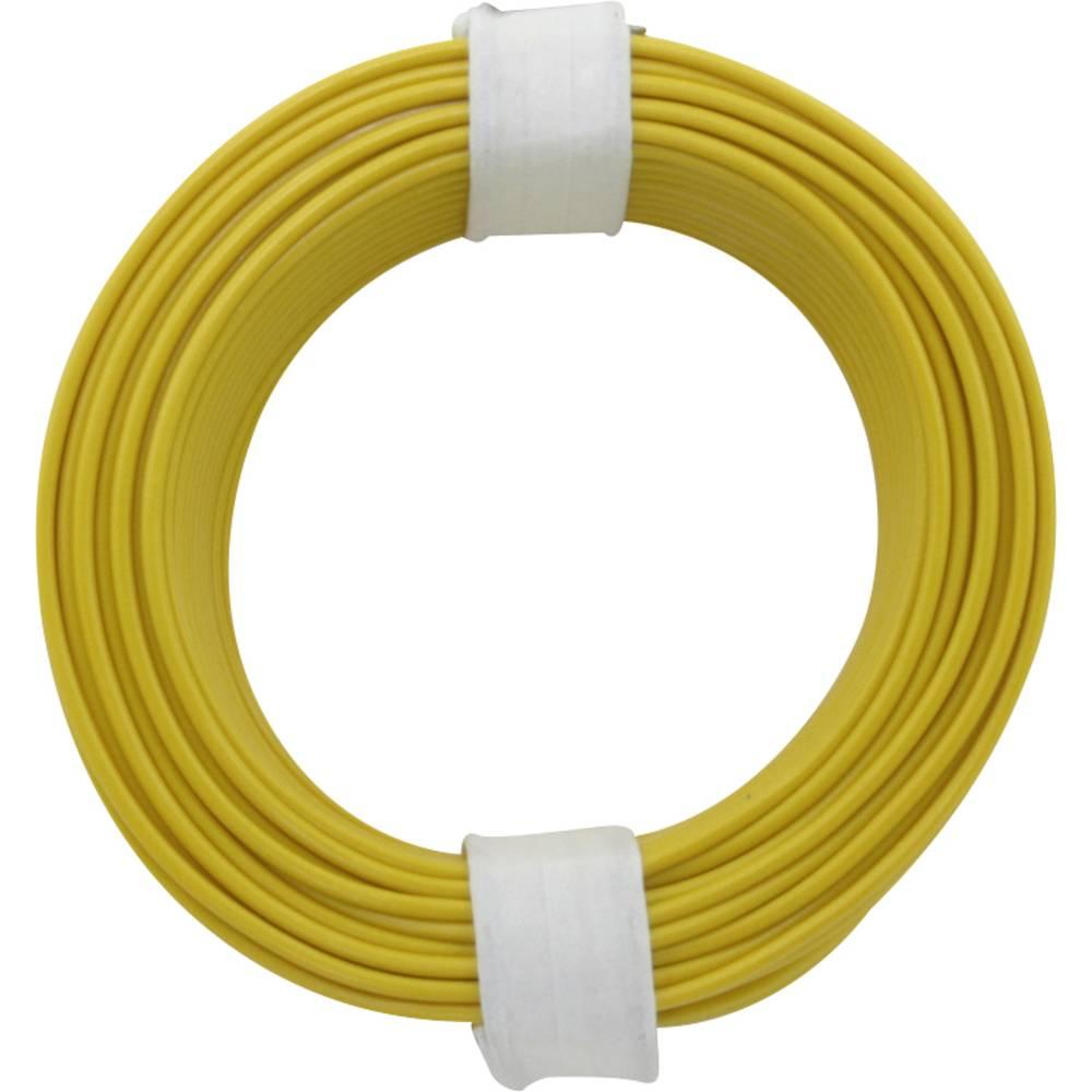 Finožični vodnik 1 x 0.14 mm rumene barve BELI-BECO L118/10 rumene barve 10 m