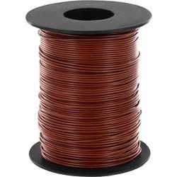 Finožični vodnik 1 x 0.14 mm rjave barve BELI-BECO L118/100 rjave barve 100 m