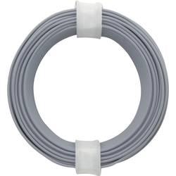 Finožični vodnik 1 x 0.14 mm sive barve BELI-BECO L118/10 sive barve 10 m