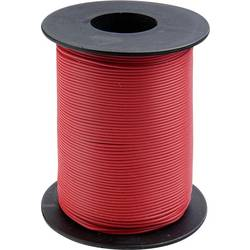 Finožični vodnik 1 x 0.14 mm rdeče barve BELI-BECO L118/100 rdeče barve 100 m