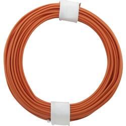 Finožični vodnik 1 x 0.14 mm oranžne barve BELI-BECO L118/10 oranžne barve 10 m