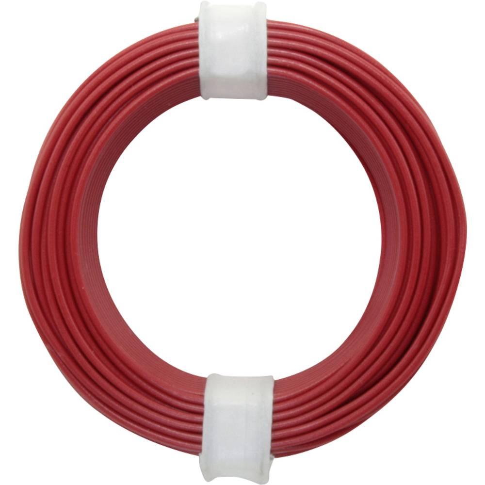 Finožični vodnik 1 x 0.14 mm rdeče barve BELI-BECO L118/10 rdeče barve 10 m