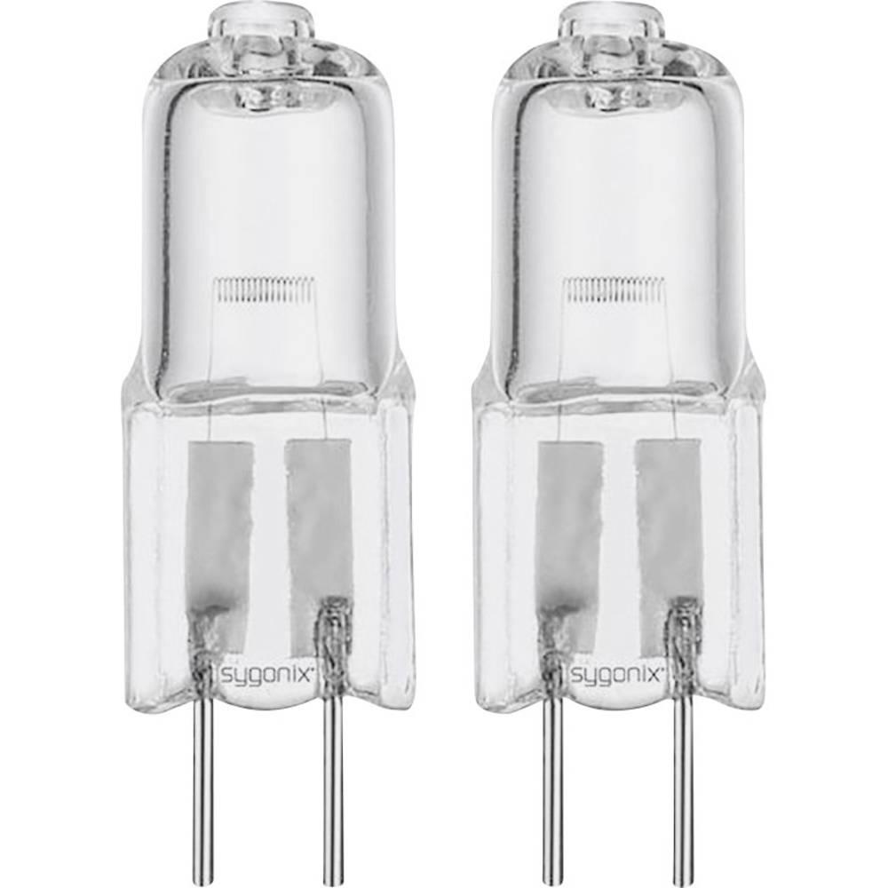 Halogenska žarnica Sygonix 12 V G4 20 W topla bela, EEK: C oblika svinčnika, 2 kosa