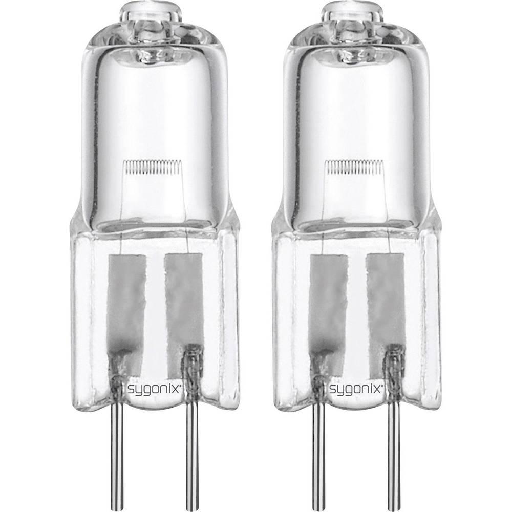 Halogenska žarnica Sygonix 12 V GU4 5 W topla bela, EEK: C oblika svinčnika, 2 kosa