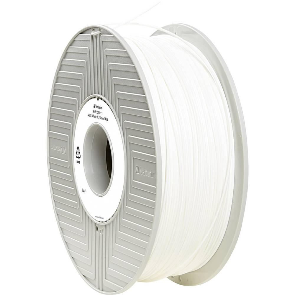 Filament Verbatim 55011 ABS 1.75 mm bele barve 1 kg