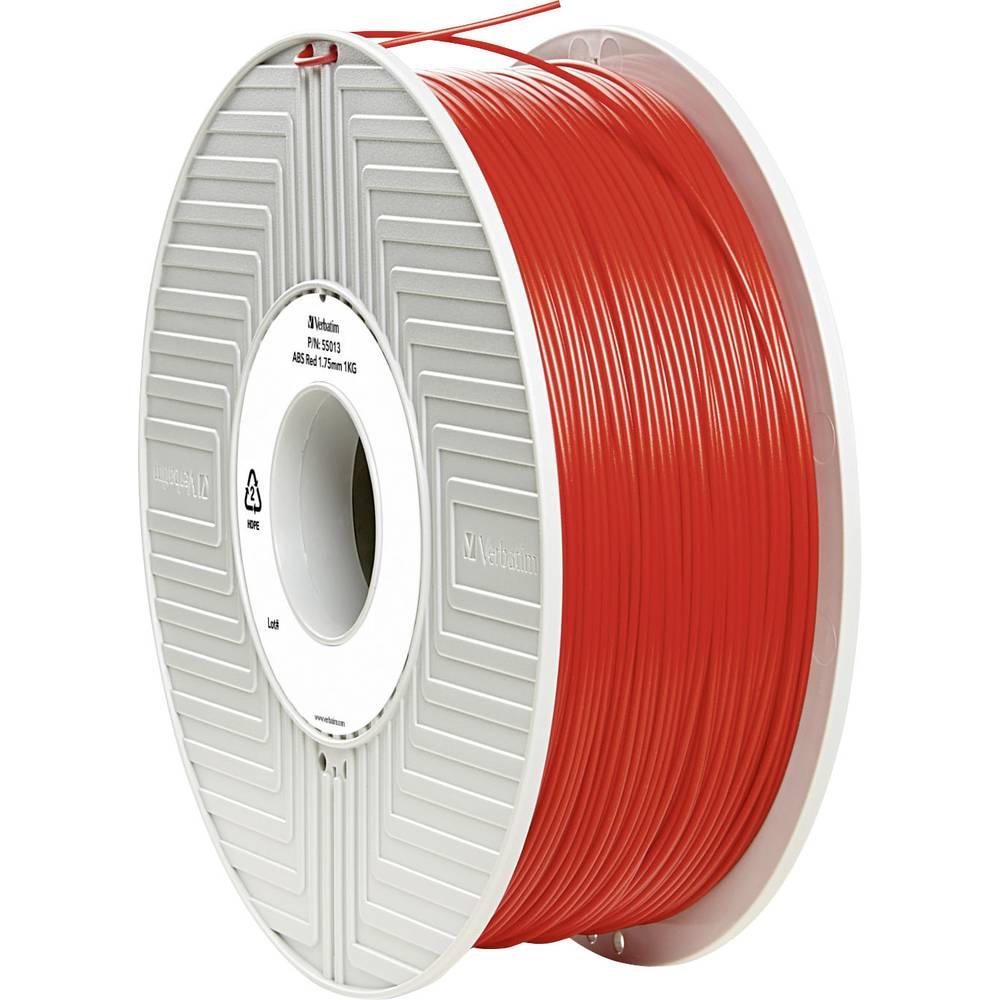 Filament Verbatim 55013 ABS 1.75 mm rdeče barve 1 kg