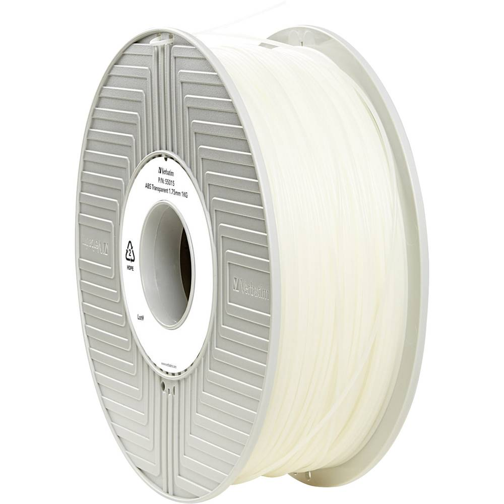 Filament Verbatim 55015 ABS 1.75 mm prozoren 1 kg