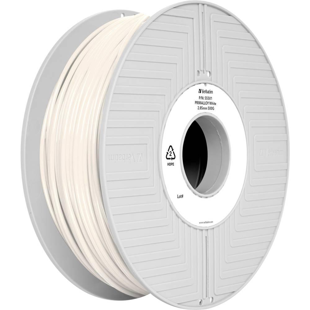 Filament Verbatim 55501 TPE 2.85 mm bele barve 500 g