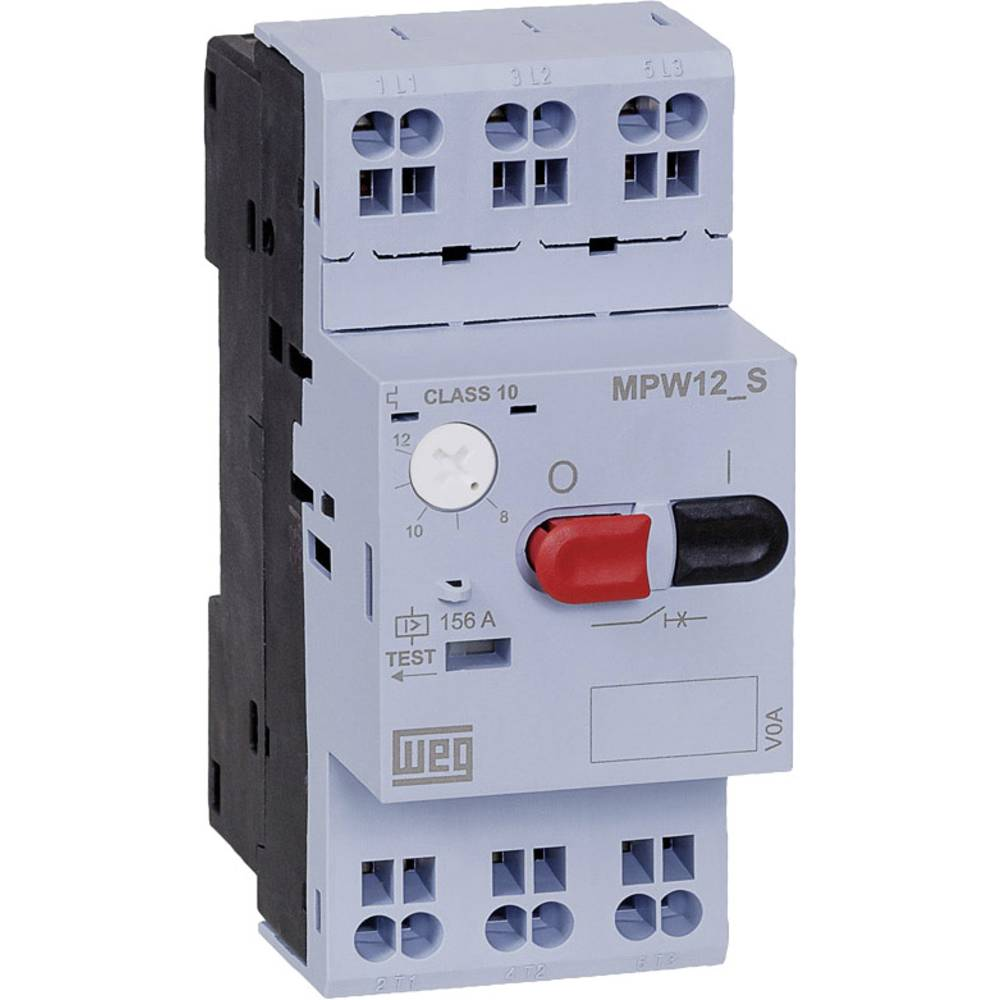 Prekidač za zaštitu motora, podesivi 0.25 A WEG MPW12-3-C025S 1 kom.
