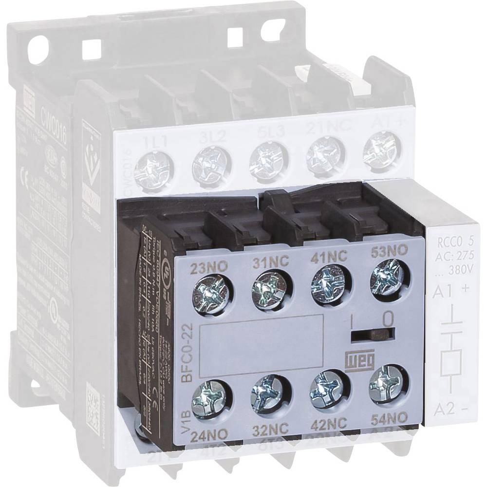 Hilfsschalterblock (value.1429016) 1 stk BFC0-04 WEG 6 A Passer til serie: Weg Serie CWC0 (3-polet)
