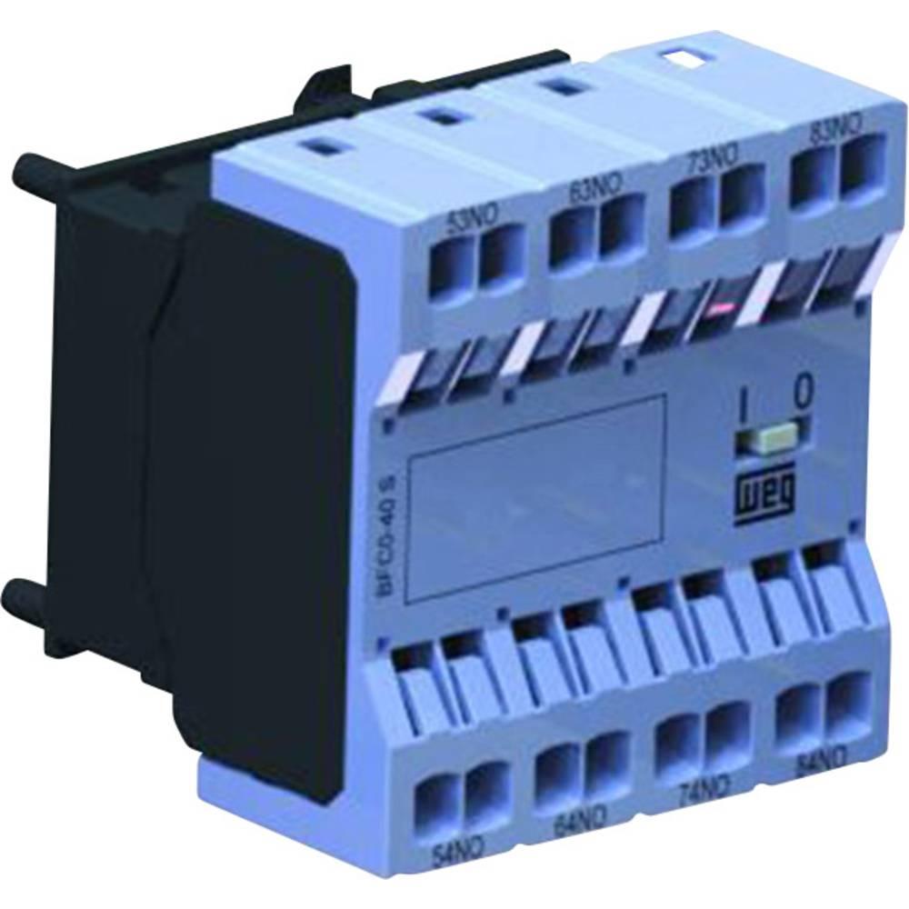Pomožni kontaktni blok za kompaktne kontaktorje CWC0, brezvijačna tehnologija spenjanja WEG BFC0-04S