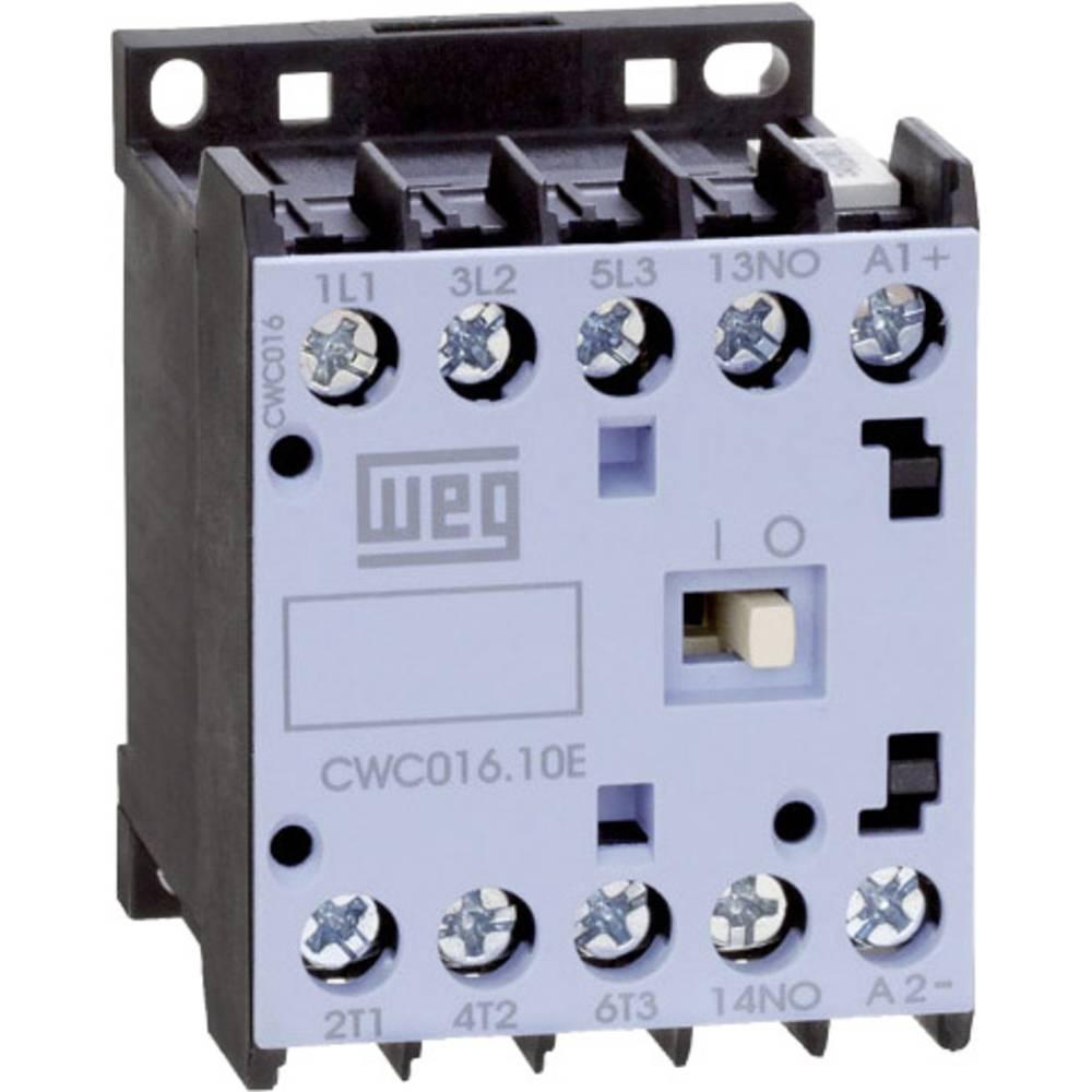 Kontaktor 1 stk CWC016-10-30C03 WEG 3 x afbryder 7.5 kW 24 V/DC 16 A med hjælpekontakt