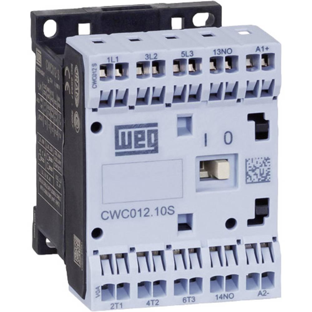Kontaktor 1 stk CWC07-10-30D24S WEG 3 x afbryder 3 kW 230 V/AC 7 A med hjælpekontakt