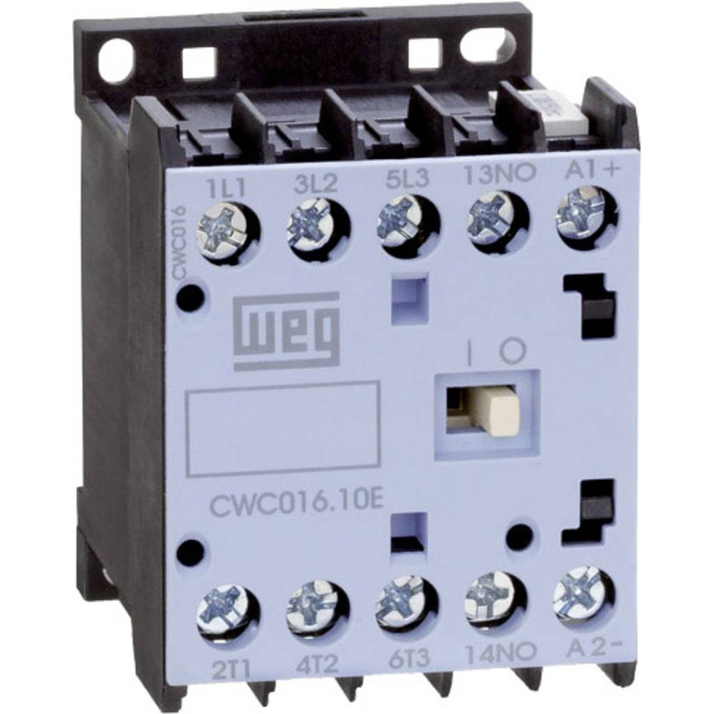 Kontaktor 1 stk CWC09-01-30C03 WEG 3 x afbryder 4 kW 24 V/DC 9 A med hjælpekontakt