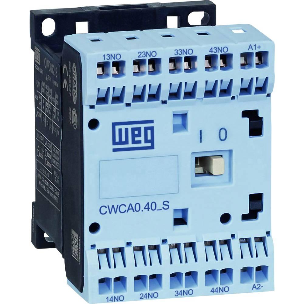 Kompaktni pomožni kontaktor CWCA, brezvijačna tehnologija spenjanja WEG CWCA0-40-00D24S 230 V/AC