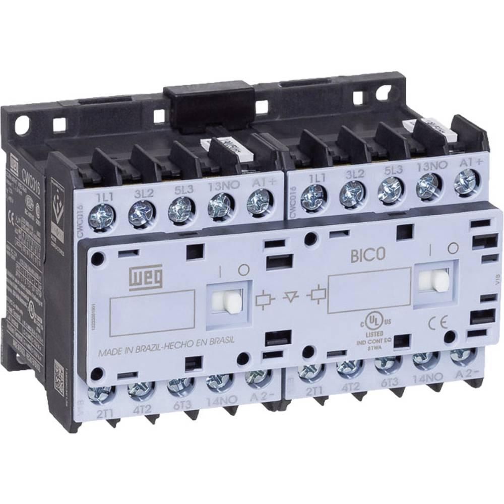 Vendekontaktor 1 stk CWCI012-01-30C03 WEG 6 lukker 5.5 kW 24 V/DC 12 A med hjælpekontakt