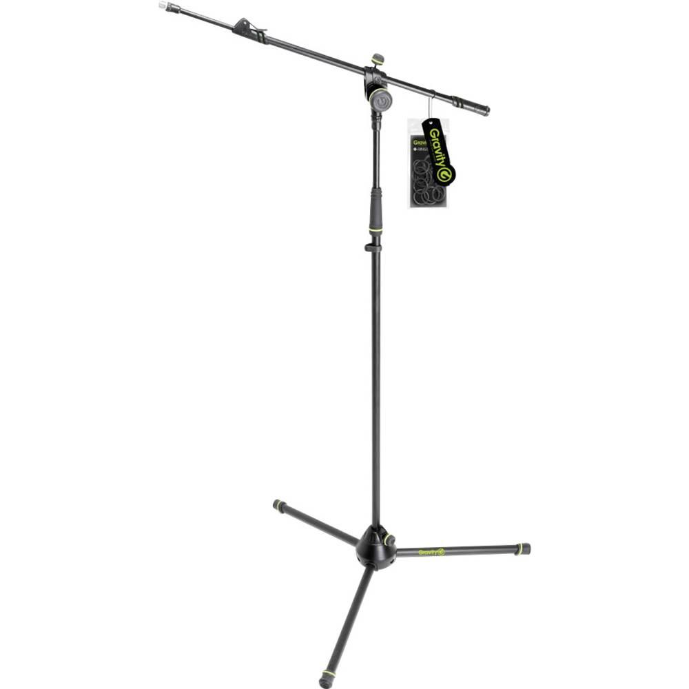Stojalo za mikrofon Gravity MS 4322 B, 2-točkovni konzolni žerjav