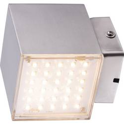 Heitronic Kubus 35272 LED vanjsko zidno svjetlo 7 W toplo-bijela plemeniti čelik