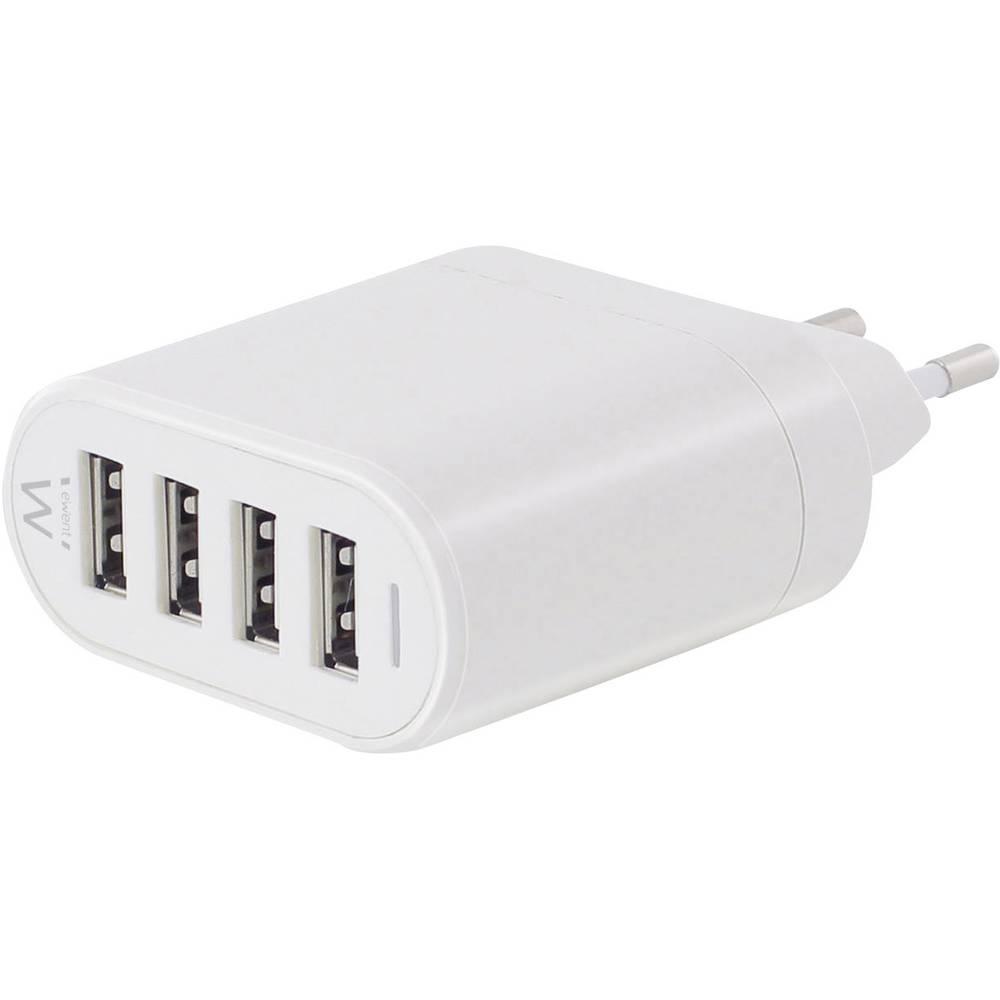USB-oplader ewent by Eminent EW1216 EW1216 Stikdåse Udgangsstrøm max. 4500 mA 4 x USB (value.1390762)
