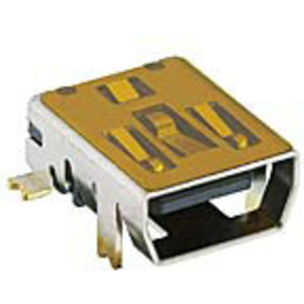 Mini-USB-2.0 vgradna sklopka tip AB vgradna vtičnica, 2486 02 VP3 Lumberg vsebina: 1 kos