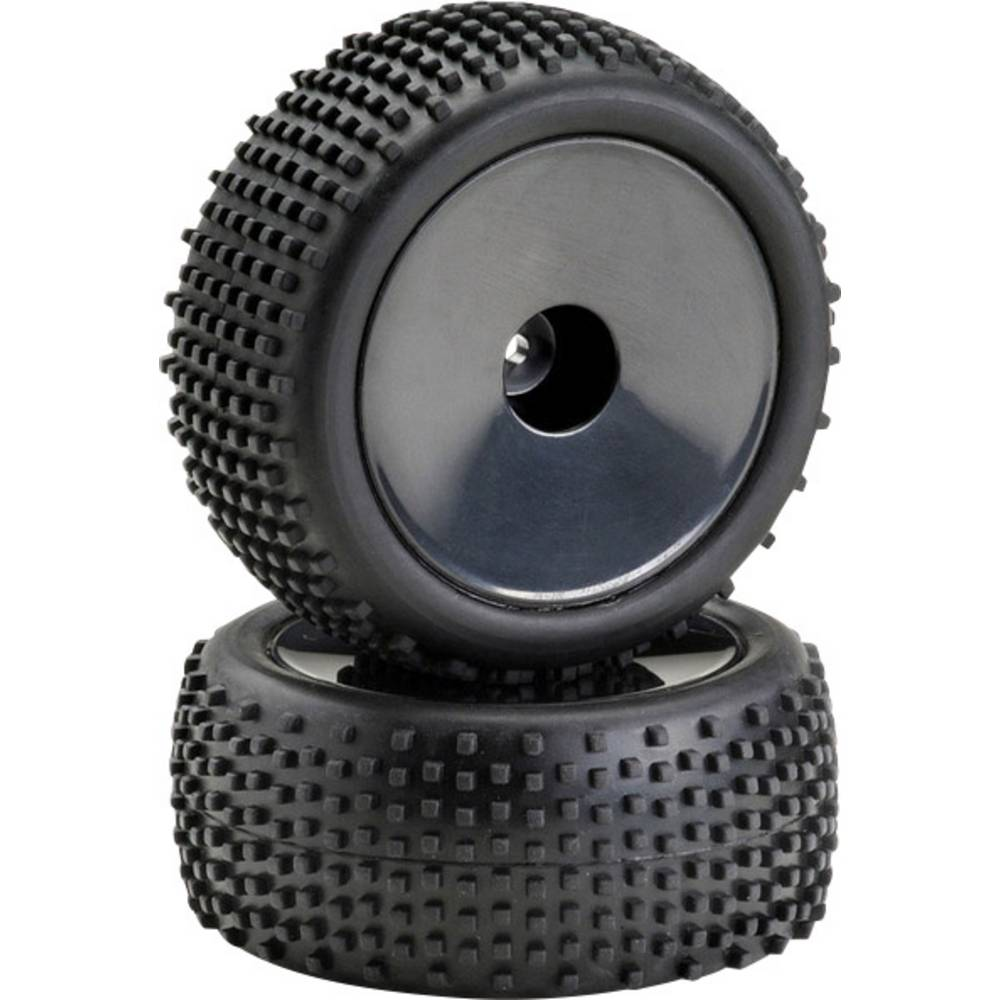 Absima 1:10 Buggy komplet koles Pin line Disk črna 1 par