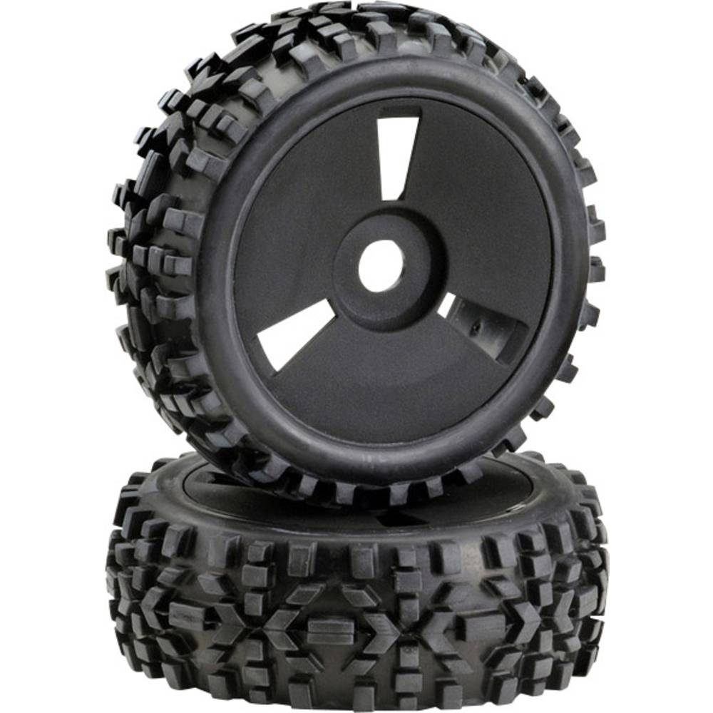 Absima 1:8 Buggy komplet koles Crossline rough Pin Disk črna 1 kos